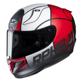 HJC Rpha 11 Quintain Helmet Red White